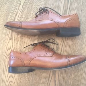 Leather Nunn Bush Slightly Distressed Dress Shoes